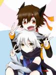 Name: Shio Kosho Nachname: Kasua Alter: 16 Charakter: Shio: zurückhaltend, freundlich, nachdenklich Kosho: extrovertiert, vorlaut, vorlaut Aussehen:(