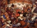 Traditionen: Die Zwerge sind sehr stolz auf ihren modernen Fortschritt und feiern daher jedes Jahr im Winter 2 Monate lang ihre vor jahrhunderten ents