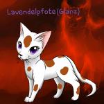 Name: Lavendelpfote (Glanz) Aussehen: Weiße Kätzin mit Hell braunen flecken und Violetten Augen Hintergrund: Diese Katze die aussieht wie aus dem Wa