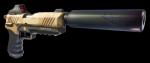 In welchen Farben gibt es die schallgedämpfte Pistole?
