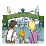In welcher Stadt findet jedes Jahr das Oktoberfest statt? In which city does the Oktoberfest take place every year? 慕尼黑啤酒节每年在哪个�