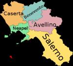 Welche Provinz grenzt nicht an Salerno?