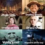 Mehrere Jingle Bells Bilder in Harry Potter Version